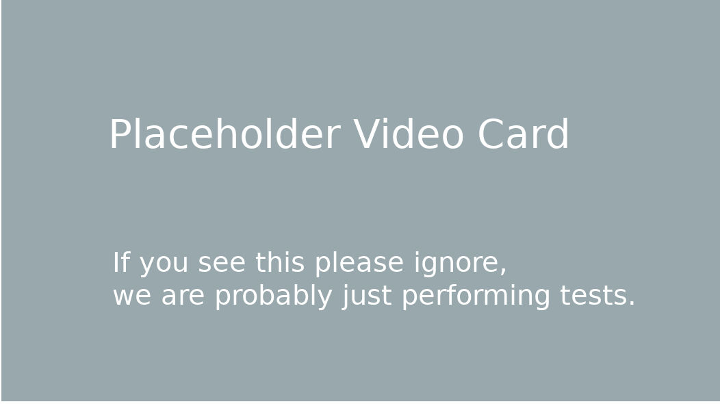 Place Holder Video
